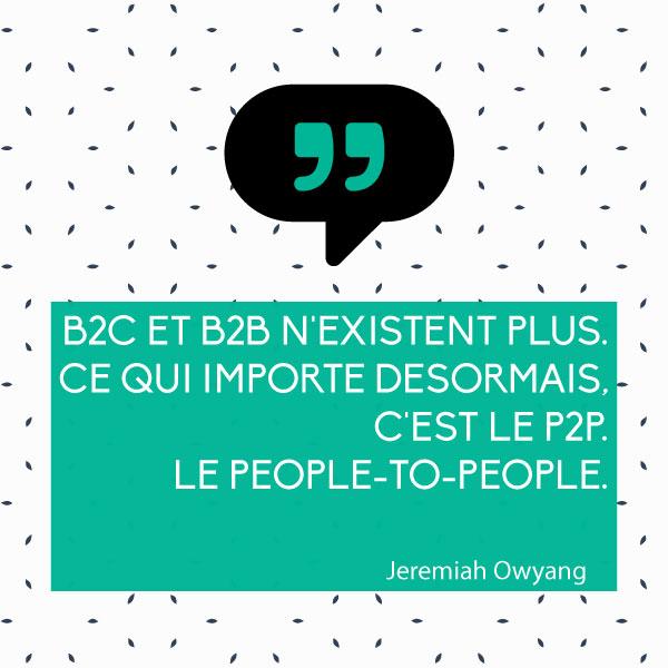 Vers le P2P… Webmarketeurs, Pensez aux gens !