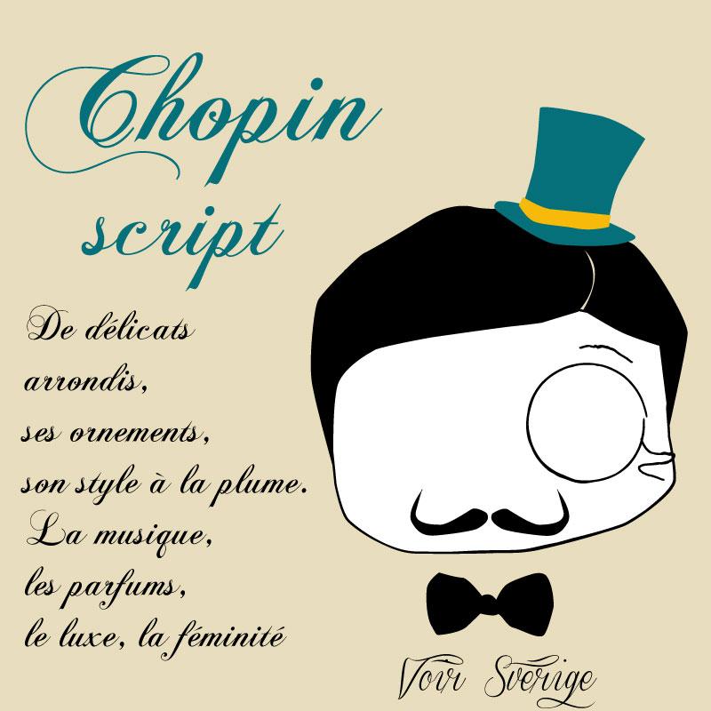 Un mois, une typo, une personnalité #1 : Chopin Script