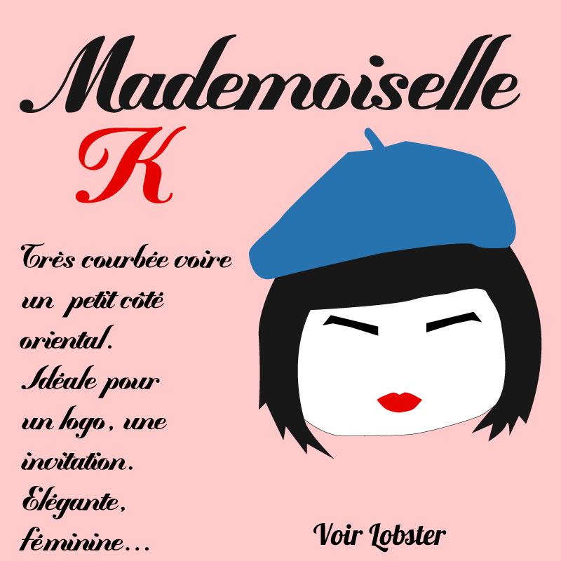 Un mois, une typo, une personnalité #2 : Mademoiselle K